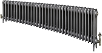 Eastgate Victoriana 3 Column 33 Section Cast Iron Radiator 450mm High x 2021mm Wide - Metallic Finish